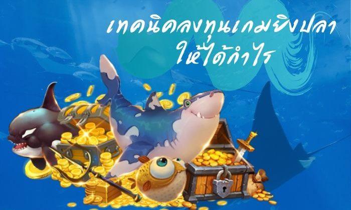 เทคนิคลงทุน เกมยิงปลา ให้ได้กำไร